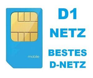 Prepaid SIM Karte D1 Netz Aktiviert Registriert Aktiv mit Guthaben Auswahl !!!