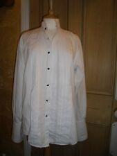 """YVES SAINT LAURENT DRESS SHIRT, 15"""" COLLAR, RUFFLE FRONT, DOUBLE BUTTON CUFFS"""