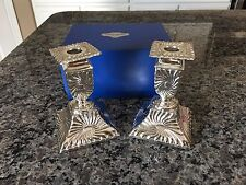 NEW in Box Vintage Japan Pair of DAVID ORGELL Silver Plate Candlesticks #58507-2