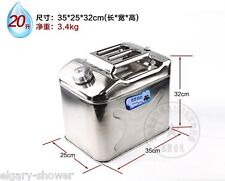 Stainless steel 5.3 US gal can 20L Fit Auto and Yacht ,Petrol diesel cooking oil