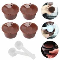 4//20 x Nachfüllbare wiederverwendbare Kaffee Kapseln Pods für Dolce Gusto Brewer