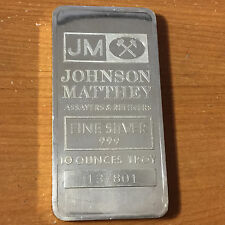 10 Troy oz .999 Fine Silver Bar Johnson Matthey 137801