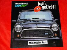Austin Rover Mini Mayfair Sport folleto de 1987