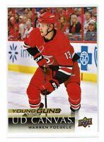 2018-19 Upper Deck Young Guns UD Canvas Warren Foegele C94 Carolina Hurricanes