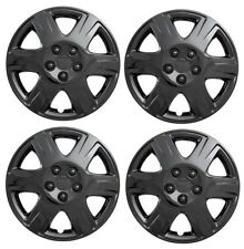 """NEW 2005-2008 TOYOTA COROLLA 15"""" Gloss BLACK Hubcaps Wheelcover SET"""