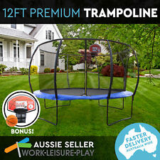 12ft Round Trampoline Safety Net Pad Teal Blue Cover Mat FREE Basketball Set