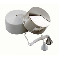 Quiet variateur Pull Switch and Cord For Bathroom Light with Chrome and white cover