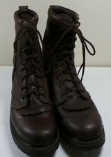 Men's Justin Brown Leather Work Boots Size 9 1/2D Lightly Used