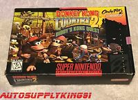 DONKEY KONG COUNTRY 2 (Super Nintendo SNES, 1995) Game Complete CIB First Print