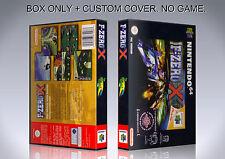 F ZERO X. PAL VERSION. Box/Case. Nintendo 64. BOX + COVER. (NO GAME).