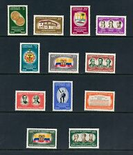 Colombia 1960 #719-21, C377-85 coins flags arms independence 12v. MNH J529