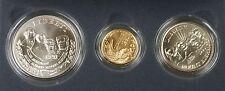 1991 Mount Rushmore 3 Coin Silver & Gold BU Commemorative U S Mint Set