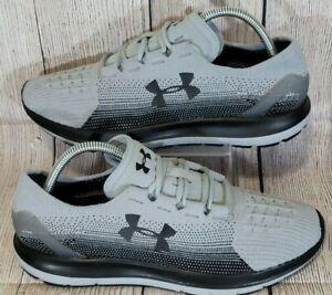 Under Armour Men's Speedform Slingride Grey/Black Sneakers 1288254-942 Size 10