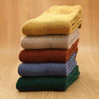 5 paia calze donna/uomo casual in lana e cashmere Caldo e denso Unisex