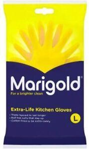 Marigolds Extra Life Kitchen Gloves Size Large Brand & New Sealed