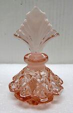 Pink Art Deco Perfume Bottle.