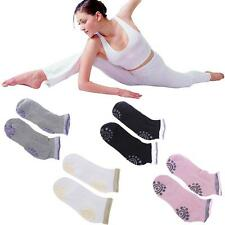 4 pairs of cotton Non Slip Skid Yoga Pilates Socks with Grips Cotton for Women