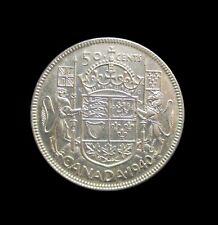 CANADA 50 CENTS 1940 GEORGE VI SILVER KM 36 #4742#