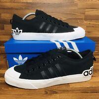 🚨Adidas Originals Nizza Men's Athletic Skate Casual Sneakers Black White Shoes