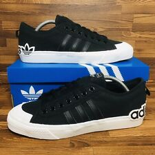 🚨Adidas Originals Nizza Men's Athletic Skate Casual Sneakers Black White Shoes