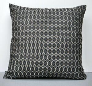 Blendworth Designer Cushion Cover Geometric Design Renaissance Weave Black/Grey