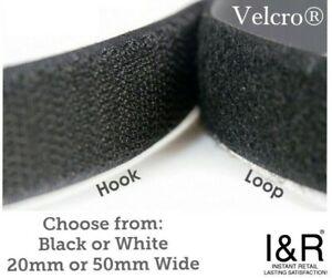 Velcro® Hook & Loop Fastening Tape Self Adhesive Sew On 20mm or 50mm