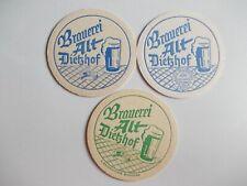 3 alte Bierdeckel Brauerei Alt Dietzhof