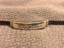 Brighton bracelet Daughter double leather brown braid bracelet
