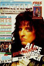 ALICE COOPER Metal Forces Magazine European Import Magazine JOE PERRY Poster