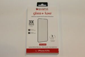 """Zagg Invisible Shield Glass+ Luxe Protector iPhone 11 Pro / XS / X (5.8"""")  Black"""