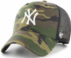 New York Yankees Cap MLB Baseball 47 Brand Cap Kappe Camo Trucker SNAPBACK