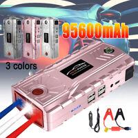 12V Portable Car Jump Starter Pack Booster USB Power Bank Battery 600A