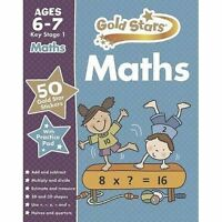 Gold star Maths age 6-7 KS1 for practice with test book New Parragon year1