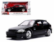Jada 1:24 Metals JDM Tuners 1997 Honda Civic EK Type-R Diecast Car Black 30719