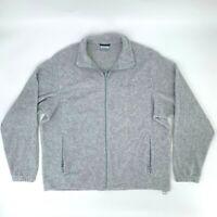 Columbia Fleece Sweater Men's Size XL Gray Cardigan Full Zip Soft Long Sleeve