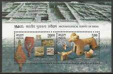 INDIA 2011 Archaeological Survey of India Stone Wood Carvings Miniature sheet