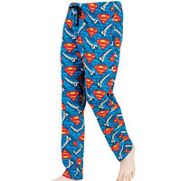 Mens Superman Lounge Pants Pyjamas Pjs Nightwear Comic Superhero Novelty Gift