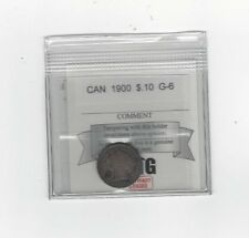 **1900**, Coin Mart  Graded Canadian,  10  Cent, **G-6**