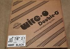 """JBI Black Twin Loop Binding Wires, 7/8""""Diam, 2:1Pitch,  5,150 Loops, Machine 25"""
