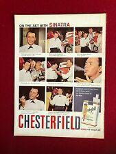"1953, Frank Sinatra, ""Chesterfield"" Magazine Ad (Scarce / Vintage)"