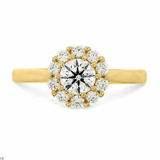 Fine 1.10 Ct Diamond Rings Solid 14Kt Yellow Gold Band Round Cut Size H, M, N, P