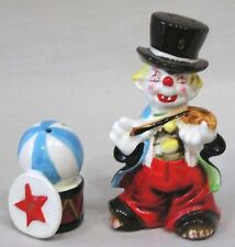 Vintage Pair Enesco Clown and Circus Ball and Drum Salt & Pepper Shakers 1960s