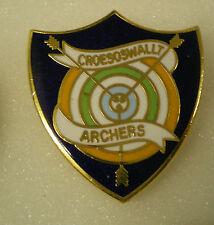 CREOSOSWALLT ARCHERS Enamel Lapel Pin Badge Hunting Shooting Fishing