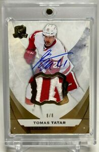 2015-16 Upper Deck The Cup Base Autograph Patch Tomas Tatar 8 /8 Auto !