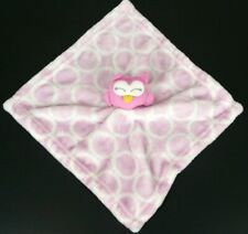 New listing Hudson Baby Girls Pink Owl Shimmery Security Blanket Pinks White Circles Hb