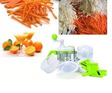 New Multi Function Food Processor Chopper Stainless Steel Plastic Juicer Spinner
