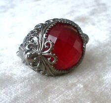 Stephen Webster Plata Esterlina Rojo Cuarzo Pulpo barroco cóctel anillo tamaño 7