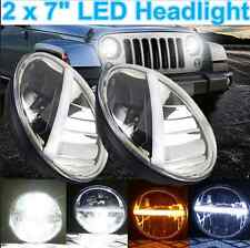 "AUTO-DN CREE 7"" Round 40W LED Headlight Complete Headlamp For Hummer H2 2X Hi-Lo"