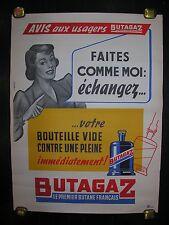 "affiche ancienne "" Butagaz """