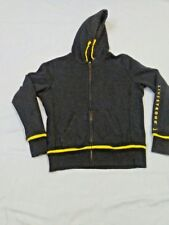 Livestrong  Womens size M Full Metal Zip Cotton Blend Hoodie Yellow Black